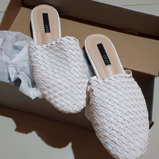 White mules shoes