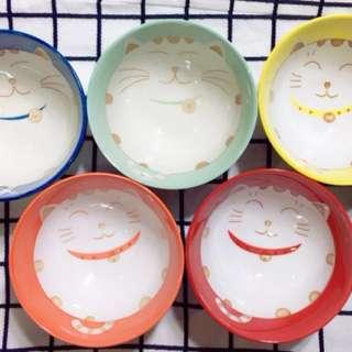 🚚 陶瓷招財貓碗
