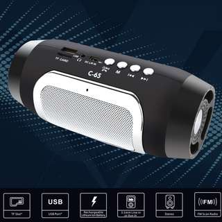 HIFI Portable wireless Bluetooth Speaker Stereo Soundbar TF FM Radio Music Sub-woofer Column Speakers for Computer Phones