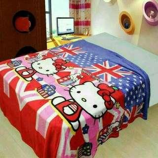 Selimut Bulu / Selimut Karakter / Selimut HK Hello Kitty