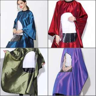 Salon Hairdressing Hair Cut Barber Gown Cape Cloth with Phone/Book Viewing Window