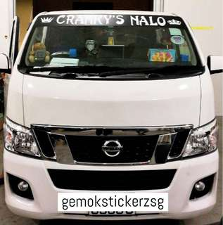 SUNSHADE WITH CUSTOM NAME DECAL