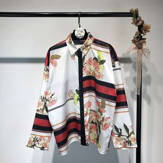 Inspired Zara Printed Flowing Shirt
