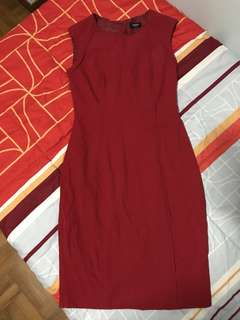 Red Oaisis Office Dress
