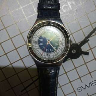 Swatch Irony AG 93 Stainless Steel    only watch no box    NOS    kondisi topcer    WR Safety