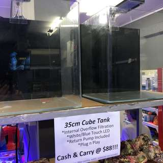 35cm cube fish tank set