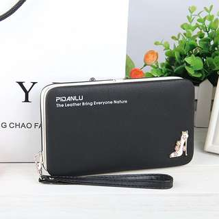Korean Fashion Ladies PU Wallet Case 5.5 Inch Multi Functional Bags Phone Card Slot Cover For iPhone For Samsung For Xiaomi