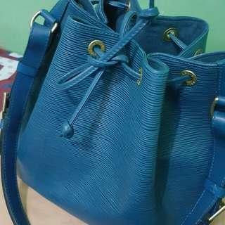 LV Vintage Noe Bag Blue Epi Leather Louis Vuitton