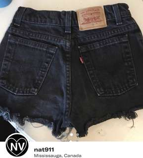 LEVI STRAUSS & CO | BLACK DENIM SHORTS