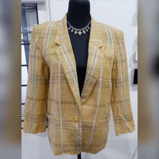 💛Vinvert Yellow Plaid Coat💛