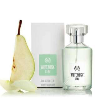 THE BODY SHOP 白麝香晨露淡香水 White Musk ® L'eau Eau De Toilette 60ML