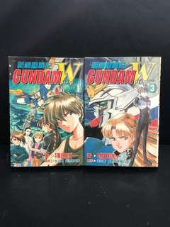 Gundam Wing Comic Book Ep1 & 3