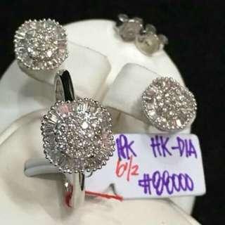 18ct Diamond Set in Hk Setting