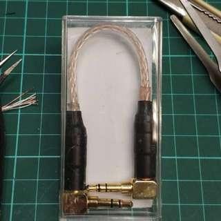 3.5mm interconnect cable 對錄線 過機線 8 core 6nOCC copper & silver 八絞 6n 單晶銅+單晶銀