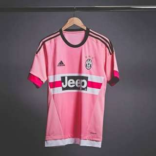 Jeep Juventus Pink Retro Vintage Drake Soccer Football Shirt Jersey (S/M/L/XL)
