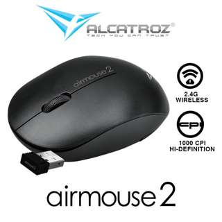 Alcatroz Wireless Airmouse 2 - Hi-Res 1000CPI Wireless Optical Mouse - Best Monthly Deal