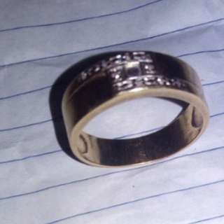 10 karat real gold ring with diamonds