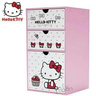 🚚 kitty三抽置物盒