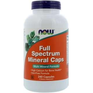 Now Foods, Full Spectrum Minerals Caps, 240 Capsules