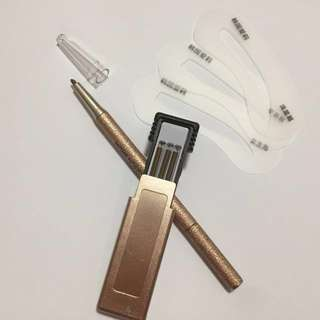 Eyebrow pencil Brown(New), Free refills and eyebrow shapes plates!