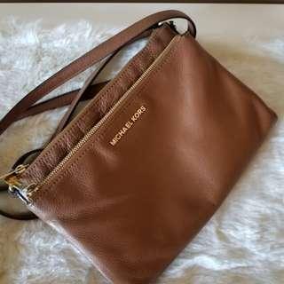 Michael Kors Brown Leather Crossbody Bag