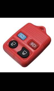 Rubber Pad 4 Button Remote Key Shell Fob Case 4 Color For Ford