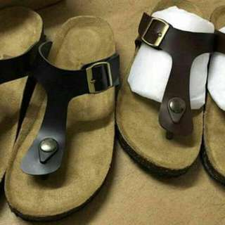 Curve leather sandal