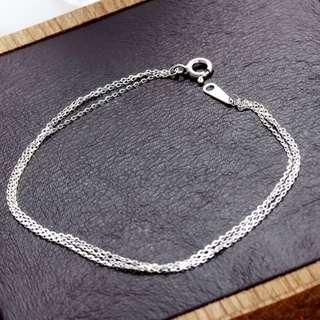 純銀-簡約3層式純銀手鍊