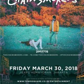 TIKET CHAINSMOKER - Festival - Dimana2 SOLD OUT