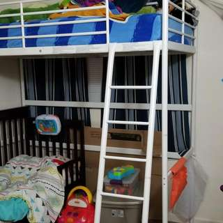 White Twin Sized Loft Bed