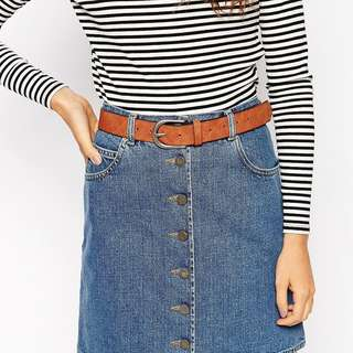 ASOS brown belt - New
