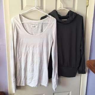 2 long sleeve tops bundle Size Medium/Large