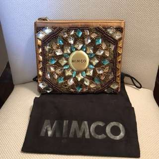 MIMCO Jewelled Tan Pouch - Medium