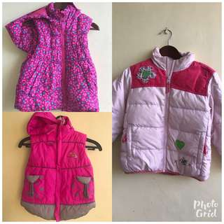 Winter jackets n vest for kids