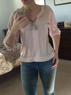 HM dusty pink blouse Size 6 US