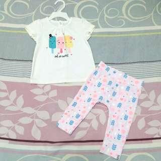 MIKI baby Shirt + COTTON ON Baby Legging