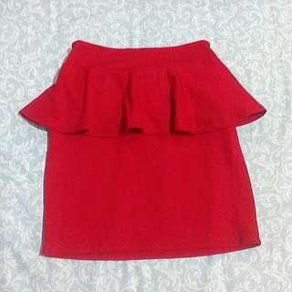 SALE!! Red peplum skirt