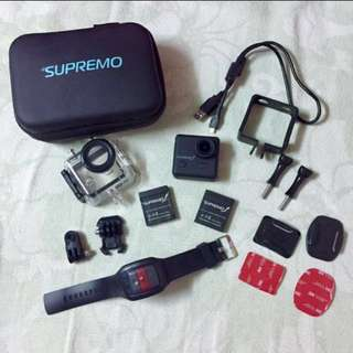REPRICED Supremo 1 Action Camera Complete Set