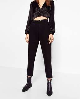 Zara high-rise mom jeans