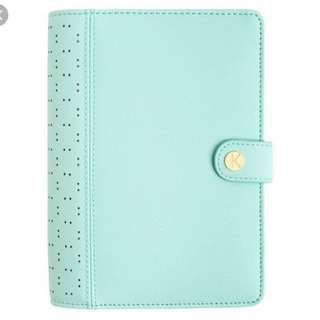 Kikki K Mint perforated planner in personal size