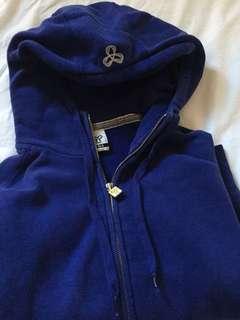 TNA royal blue zip-up hoodie