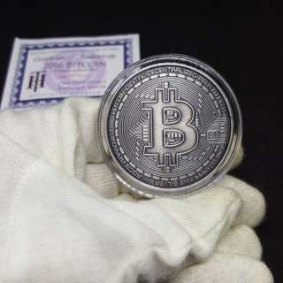 Antique Finished Bitcoin 1 oz silver round