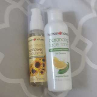 Human Nature Sunflower Oil+Balancing Toner Set