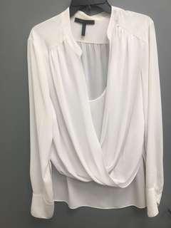 BCBG silk shirt size L/XL