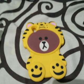 Oppo A37 Line Brown Case