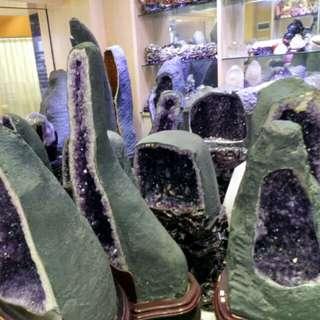各種size天然極品紫晶洞 歡迎查詢價格
