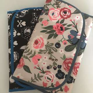 Jujube changing pad king court and rosy posy bundle