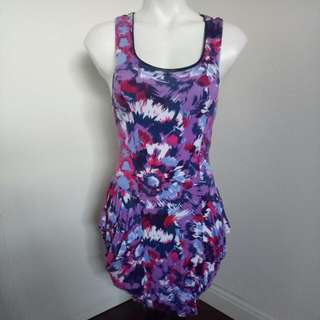 Sunny Girl Printed Colorful Fitting Dress