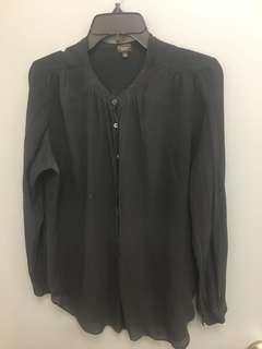 Aritzia's talula babaton silk blouse Large/xl