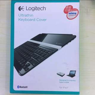Logitech Ultrathin Keyboard Cover for ipad2/3/4/5羅技藍牙無線鍵盘